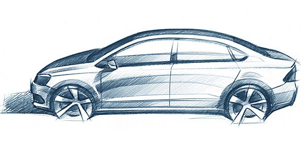 Немецкий автопроизводитель Volkswagen обнародовал первый рисунок будущего российского...