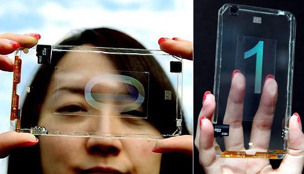 Первый в мире прозрачный телефон