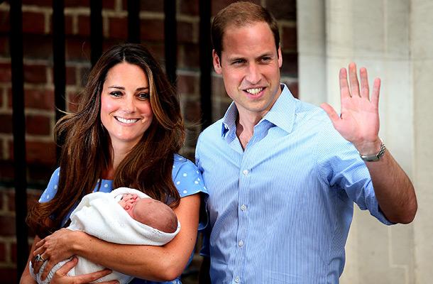 Кейт Миддлтон, принц Уильям и их сын Джордж Александр Луи. Фото: Getty Images/Fotobank.ru