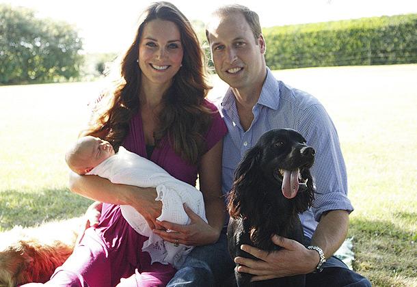 Кейт Миддлтон, принц Уильям и маленький Джордж. Фото: Getty Images/Fotobank.ru