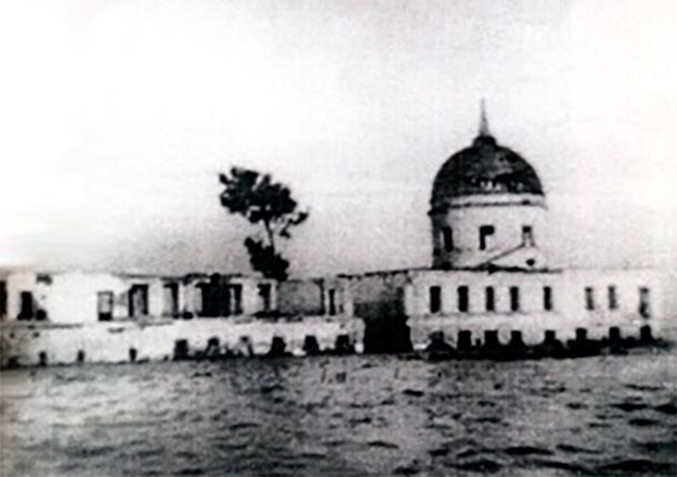 Затопление Афанасьевского монастыря, 1941 год. Фото: wikipedia.org