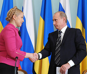 Юлия Тимошенко и Владимир Путин. Фото: ИТАР-ТАСС