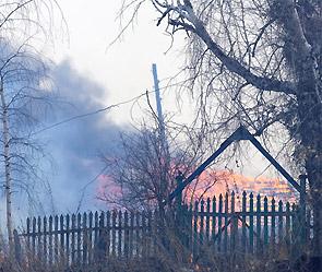 В Киеве горит мусор