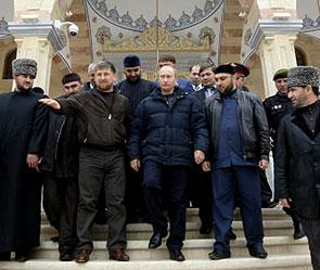 Кадыров и владимир путин фото government ru