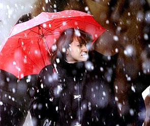 В Киеве ожидается снег с дождем