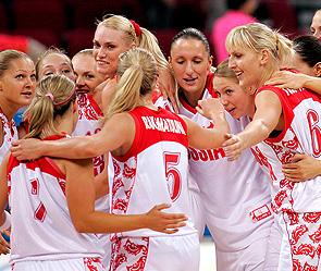 Олимпиада 2012.  Женский баскетбол.  Россия - Австралия.
