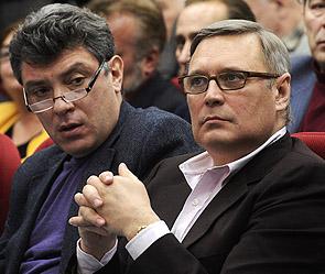 Борис Немцов и Михаил Касьянов. Фото: ИТАР-ТАСС
