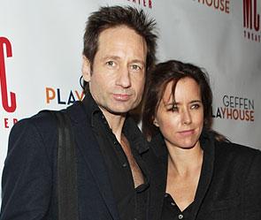 Дэвид Духовны с женой Теа Леони. Фото: Getty Images/Fotobank.ru