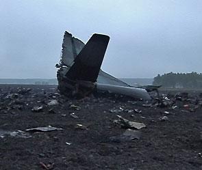 На месте катастрофы грузового самолета Ан-12.