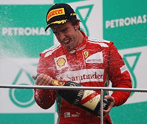 Алонсо выиграл гран при малайзии