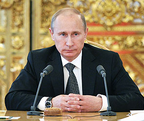 Putin criticising the government over the budget