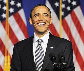 Обама побеждает в битве за белый дом