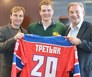 Сергей Фёдоров, Максим и Владислав Третьяк. Фото: cska-hockey.ru