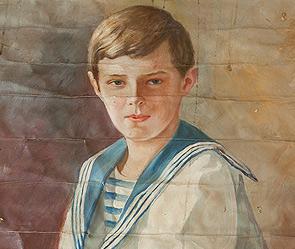 При реставрации дома под Петербургом нашли портрет цесаревича Алексея.