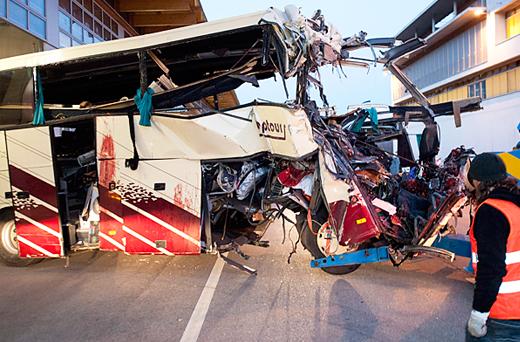 Автобус с детьми разбился в швейцарии