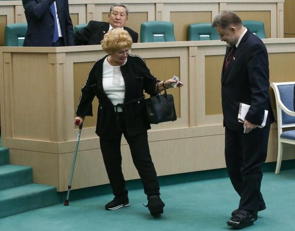 Людмила Нарусова и Вячеслав Шверикас. Фото: Станислав Красильников/ТАСС