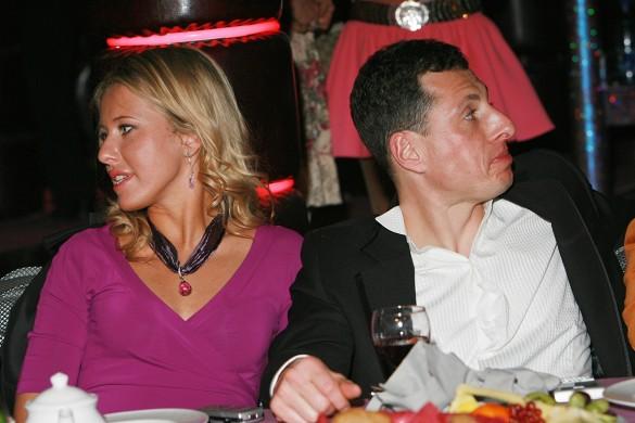 Ксения Собчак и Александр Шустерович. Фото: GLOBAL LOOK press/Anatoly Lomohov