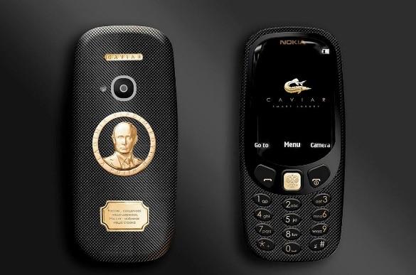 Легендарная нокиа 3310 сзолотым Путиным появится в Российской Федерации