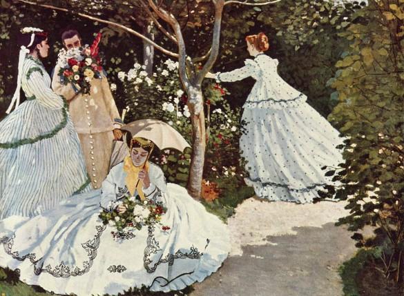 """Фрагмент картины Клода Моне """"Женщины в саду"""". Фото: общественное достояние"""