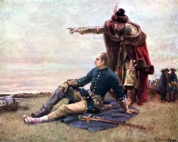 Карл XII и гетман Мазепа после Полтавской битвы. Фото: общественное достояние