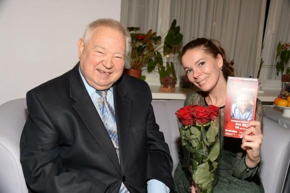 Георгий Гречко с дочерью Ольгой. Фото: GLOBAL LOOK press/Anatoly Lomohov