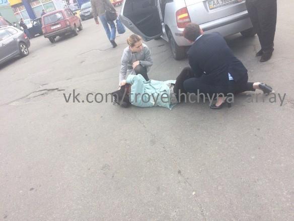Савченко сбила женщину: появилось видео