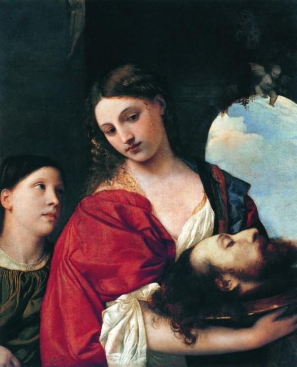 """Тициан, """"Саломея с головой Иоанна Крестителя"""". Общественное достояние"""