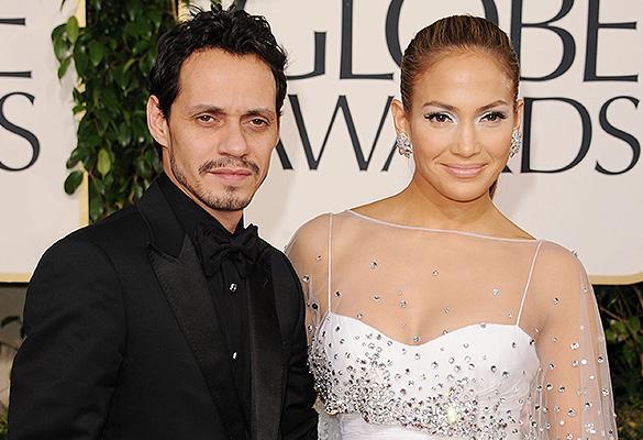 Дженнифер Лопез с бывшим мужем Марком Энтони. Фото: Jason Merritt/Getty Images