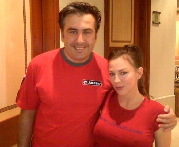 Михаил Саакашвили и Дороти Штерн. Фото: drdot.com