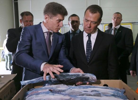 Дмитрий Медведев и Олег Кожемяко. Фото: Екатерина Штукина/ТАСС