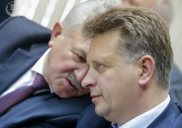 Евгений Москвичев и Максим Соколов. Фото: Анна Исакова/Фотослужба Государственной Думы