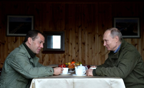 Дмитрий Медведев и Владимир Путин. Фото: GLOBAL LOOK press/Kremlin Pool