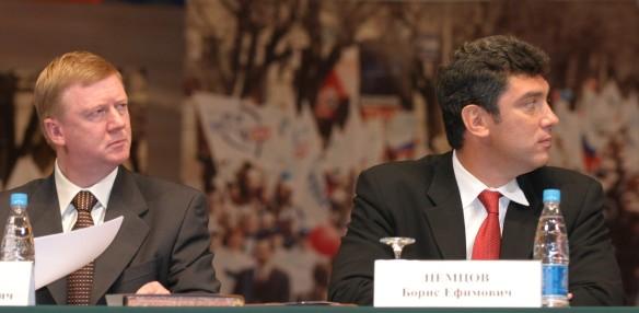 Анатолий Чубайс и Борис Немцов. Фото: GLOBAL LOOK press/Viktor Chernov