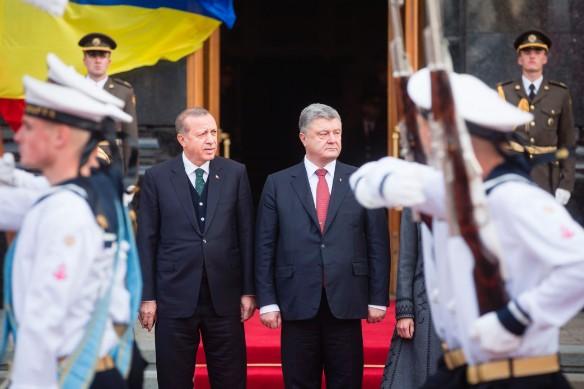 Реджеп Эрдоган и Петр Порошенко. Фото: president.gov.ua