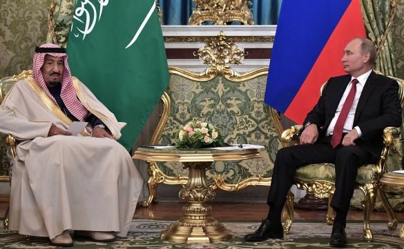 Король Салман ибн Абдул-Азиз Аль Сауд и Владимир Путин. Фото: GLOBAL LOOK press/Kremlin Pool