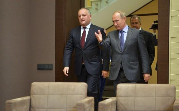 Игорь Додон, Владимир Путин. Фото: GLOBAL LOOK press/Kremlin Pool