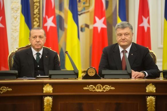 Реджеп Эрдогани и Петр Порошенко. Фото: president.gov.ua