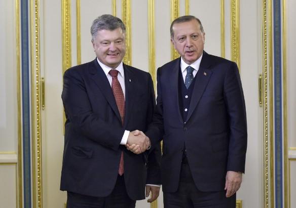 Петр Порошенко и Реджеп Эрдоган. Фото: president.gov.ua