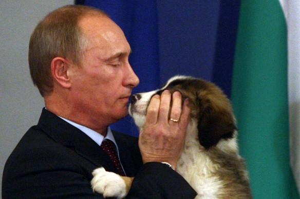 Владимир Путин и Баффи. Фото: GLOBAL LOOK press