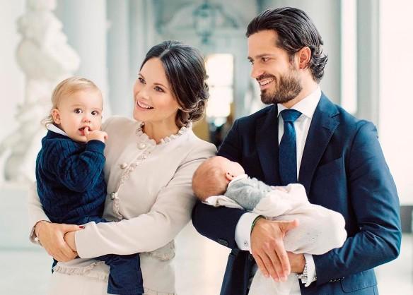 герцогиня София и Принц Карл Филипп Шведский с детьми. Фото: GLOBAL LOOK press