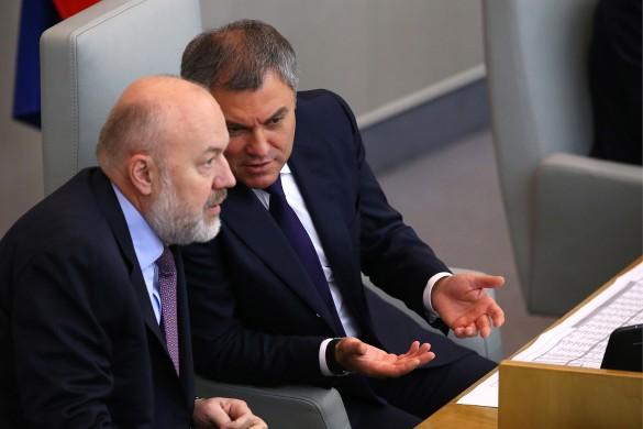 Павел Крашенинников и Вячеслав Володин. Фото: Антон Новодережкин/ТАСС