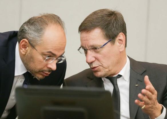 Николай Николаев и Александр Жуков. Фото: Анна Исакова/Фотослужба Государственной Думы