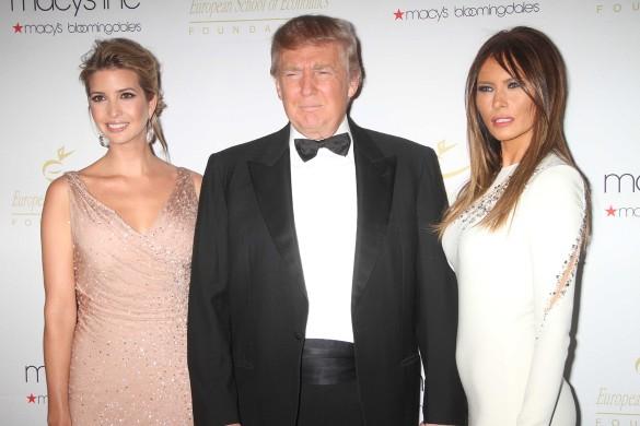 Иванка, Меланья и Дональд Трамп. Фото: GLOBAL LOOK press/John Barrett