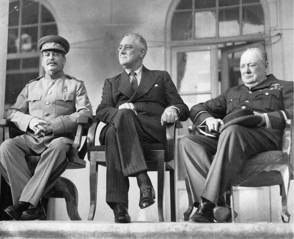 Иосиф Сталин, Франклин Рузвельт, Уинстон Черчилль. Фото: wikipedia.org