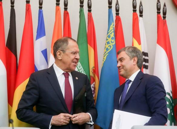 Сергей Лавров и Вячеслав Володин. Фото: duma.gov.ru