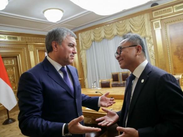 Зулькифли Хасан и Вячеслав Володин. Фото: duma.gov.ru