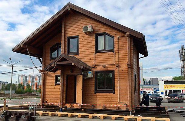 Как передвинуть дом из бруса
