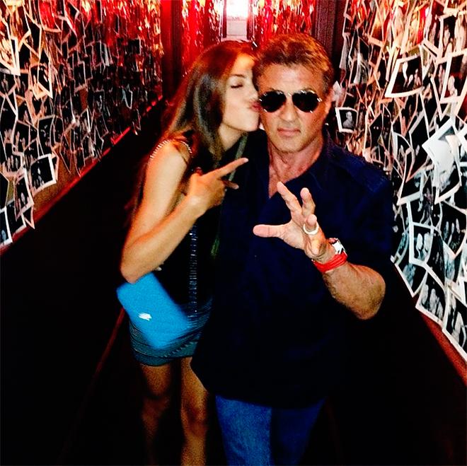 Сильвестр Сталлоне с дочкой Систин. Фото: instagram.com/officialslystallone