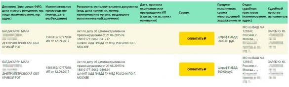 Скриншот fssprus.ru