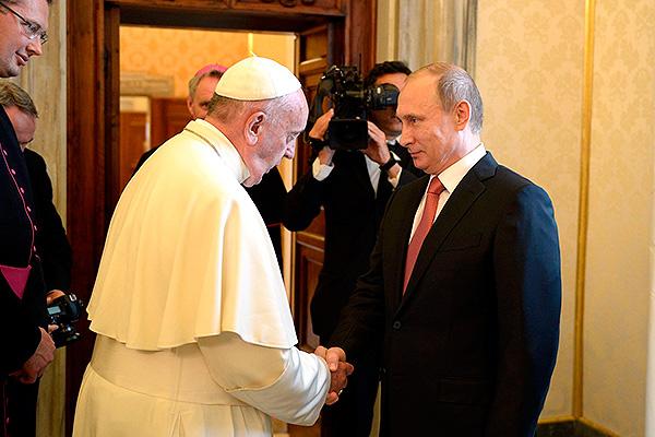 Папа римский Франциск и Владимир Путин. Фото: kremlin.ru